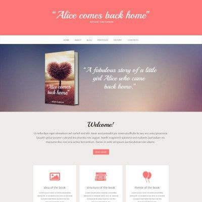 Book Reviews Responsive Website Template #47955