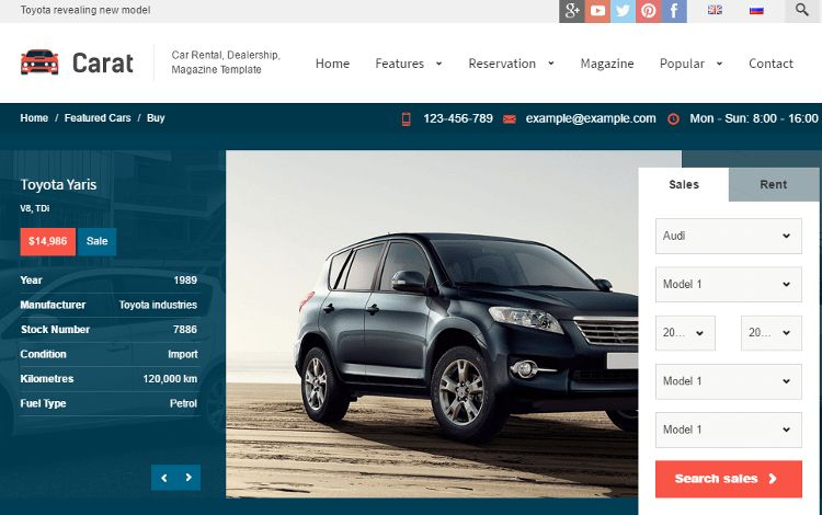 Top 5 Car Dealer, Automotive, Auto Sales HTML5 Templates