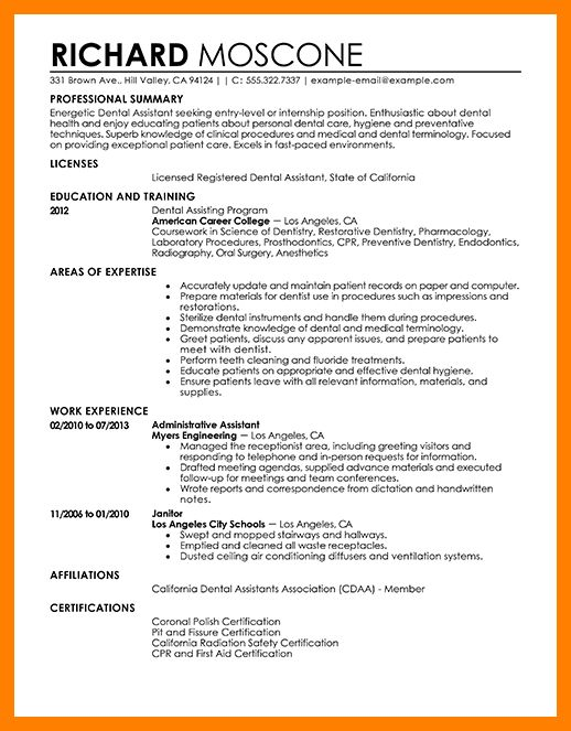 dental assistant resume template. excellent improving cover letter ...