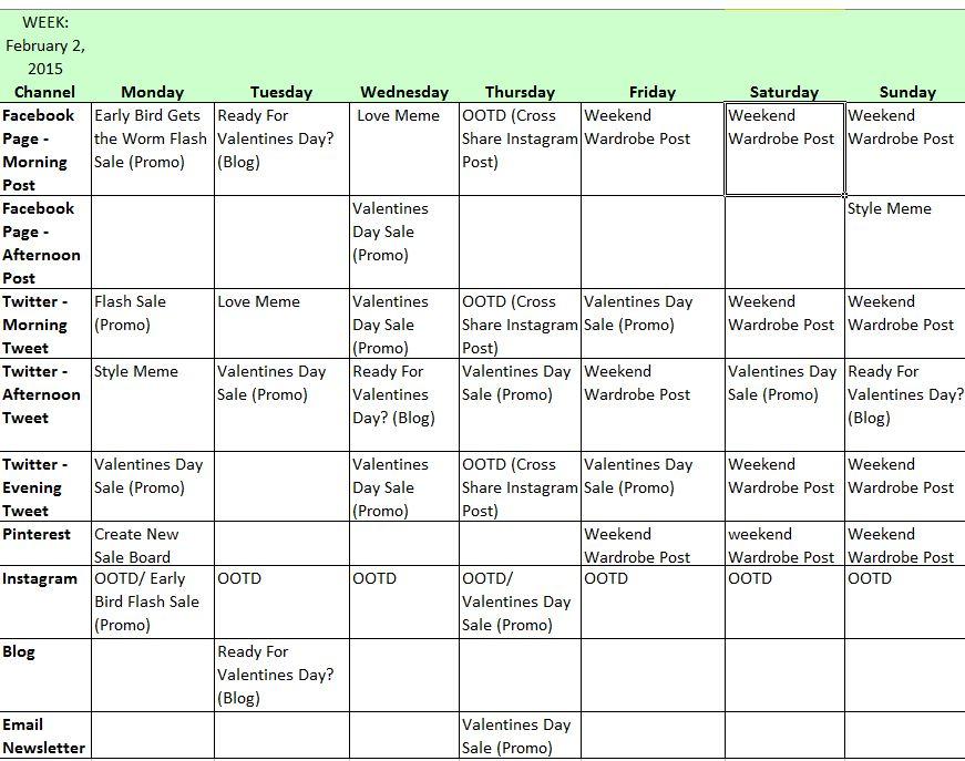 Social Media Calendar Template | cyberuse