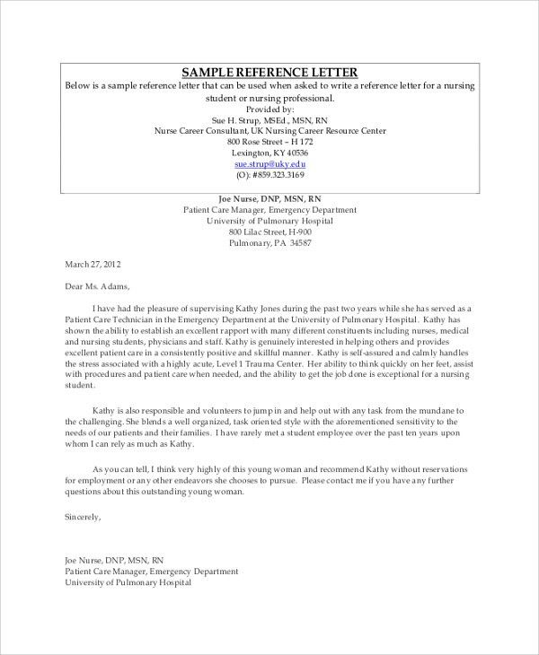 Sample Professional Reference Letter - 6+ Documents in PDF, Word