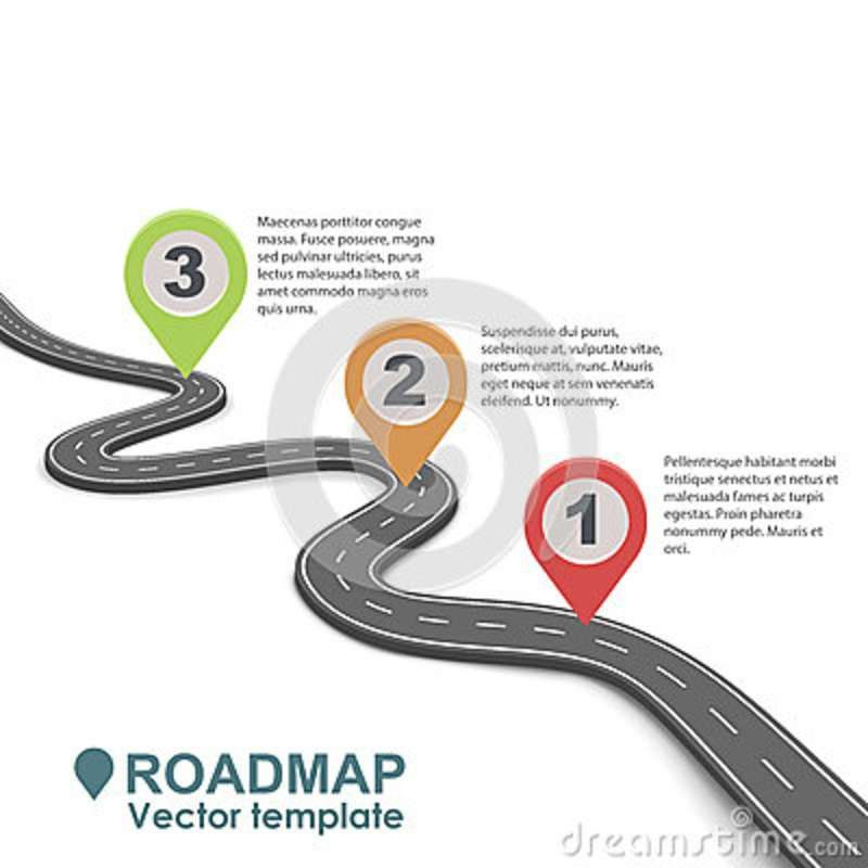 Abstract Business Roadmap Infographic Design. Stock Vector - Image ...