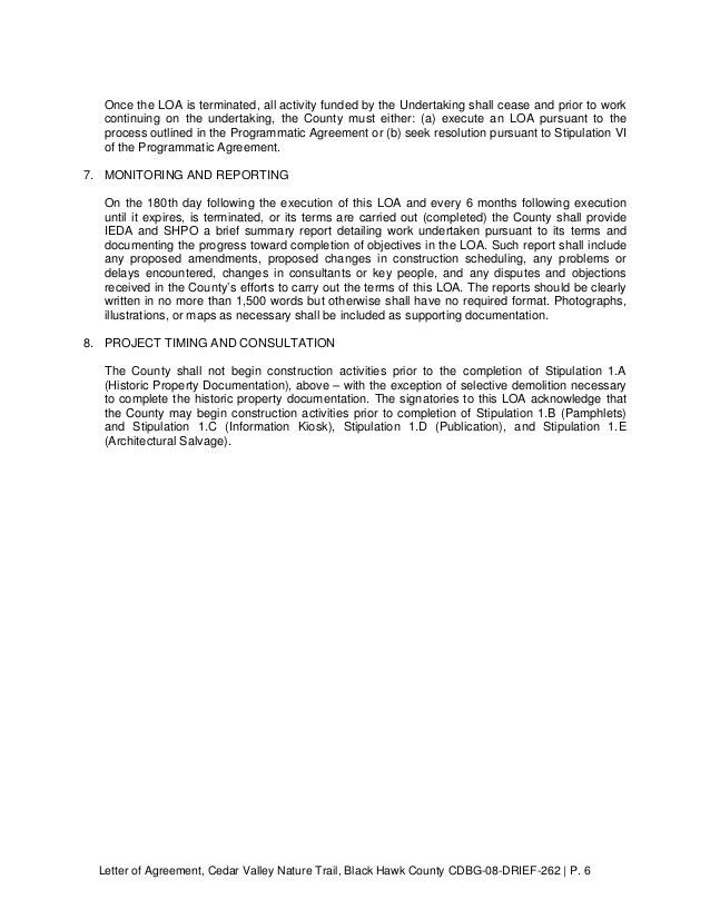 Letter of Agreement (LOA) Black Hawk County Bridge Replacement and Tr…
