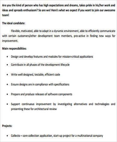 Sample Computer Programmer Job Descriptions - 11+ Examples in Word ...