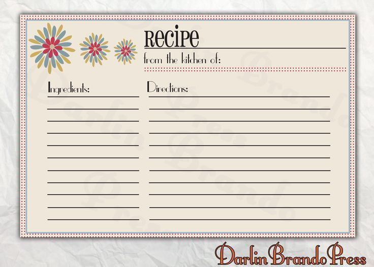 109 best recipe card images on Pinterest | Printable recipe cards ...
