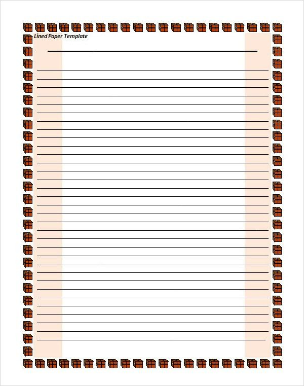 Best Photos of Lined Paper For Student Use - Printable Lined ...