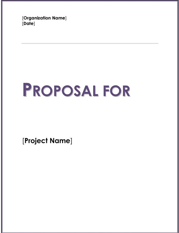 Charity Fund Raiser Proposal Template
