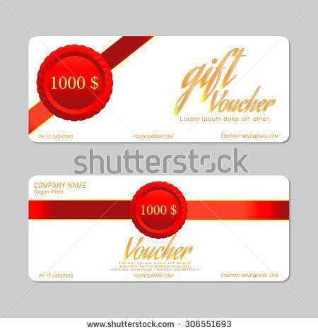 Gift Voucher Template Voucher Template Floral Stock Vector ...