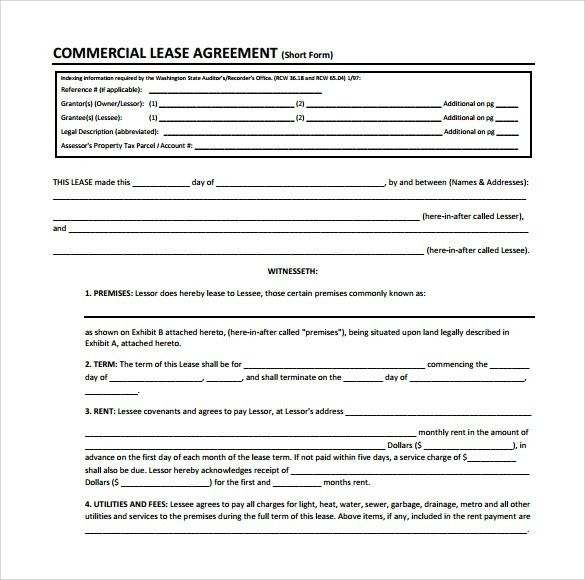 Sample Commercial Lease Form - 11+ Download Free Documents in PDF ...
