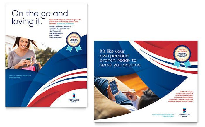 Bank Poster Template Design