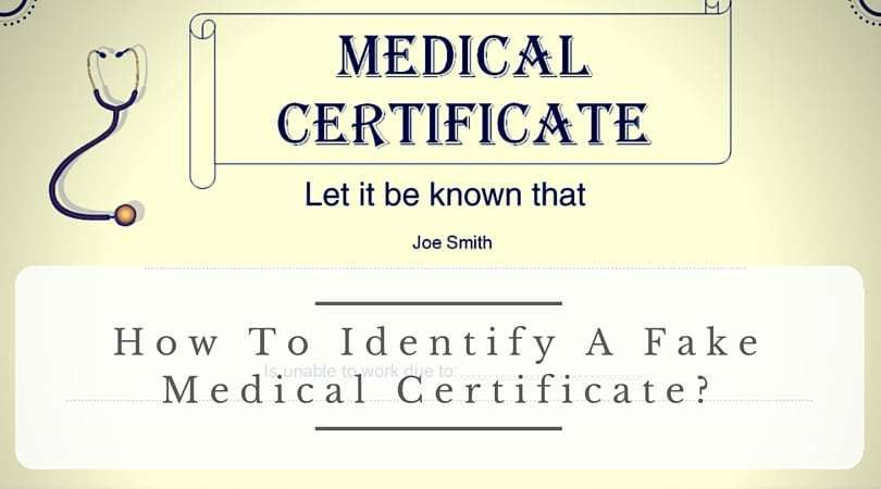 How To Identify A Fake Medical Certificate?