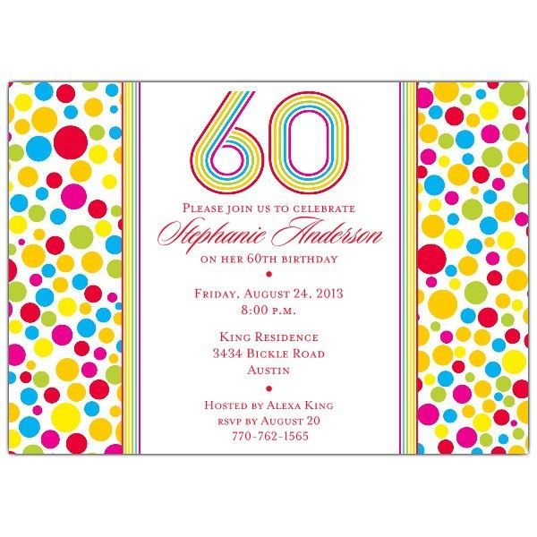 Free Printable 60th Birthday Invitations | Drevio Invitations Design