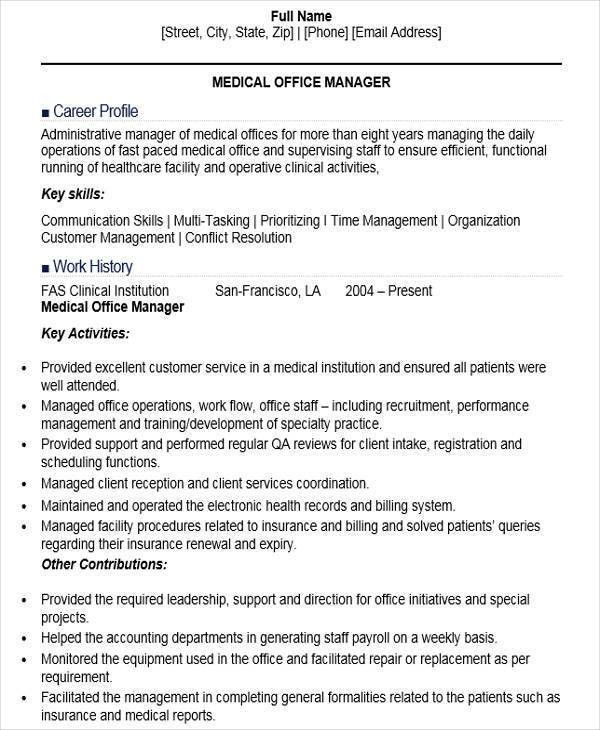 Medical Office Manager Resume | haadyaooverbayresort.com