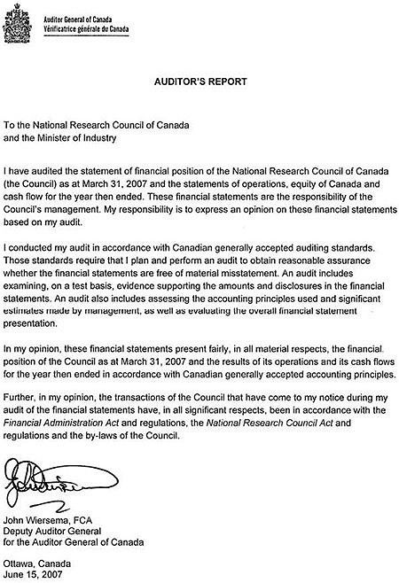 ARCHIVED - National Research Council Canada 3 / 8