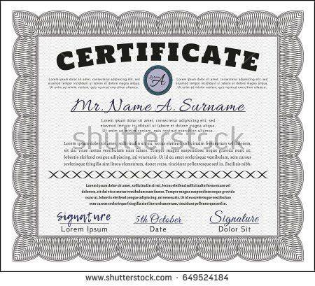 Vector Design Template Certificate Diploma Stock Vector 358041863 ...