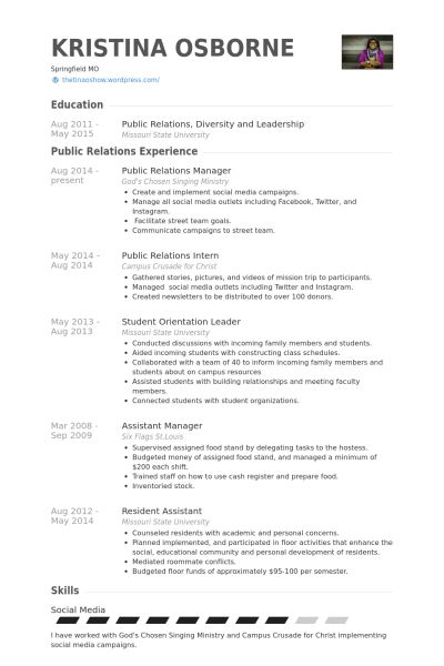 public relations resume example relations executive resume
