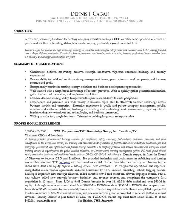 10+ CEO Resume Templates - Free Word, PDF
