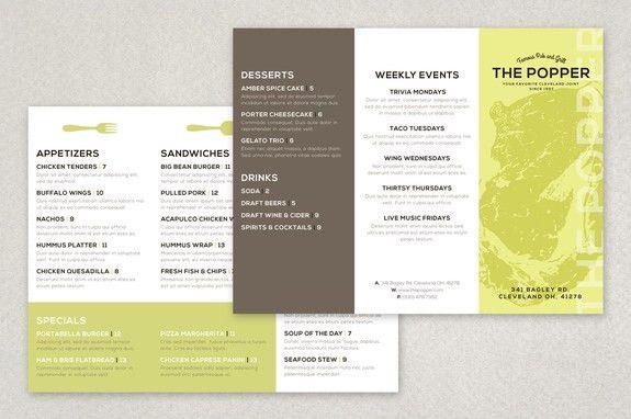 Modern Restaurant Brochure Template | Inkd