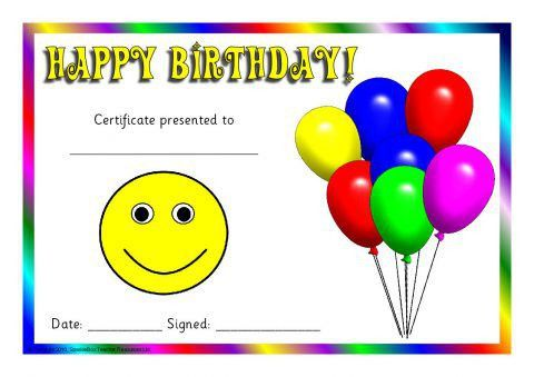 Printable Birthday Award Certificates for Early Years & KS1 ...