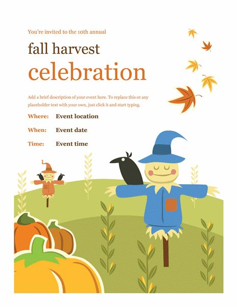 Fall flyer - Office Templates