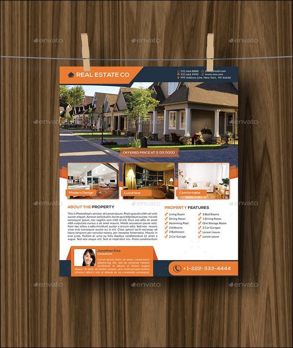 22+ Best Real Estate Flyer Templates | Real estate flyers ...
