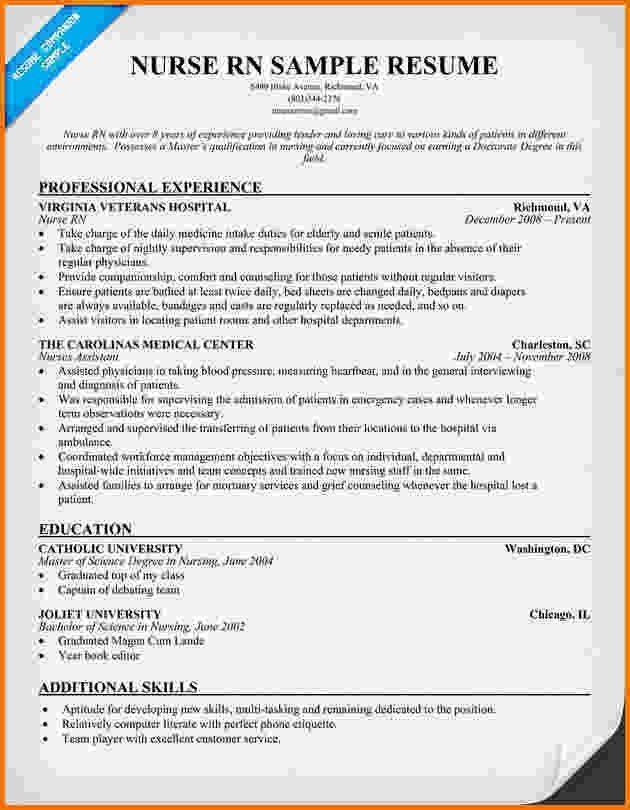 6 experienced nursing resume samples | Financial Statement Form