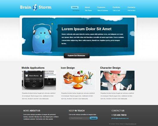 BrainStorm – Free HTML5 Website Template | Html5Mania.com | HTML5 ...