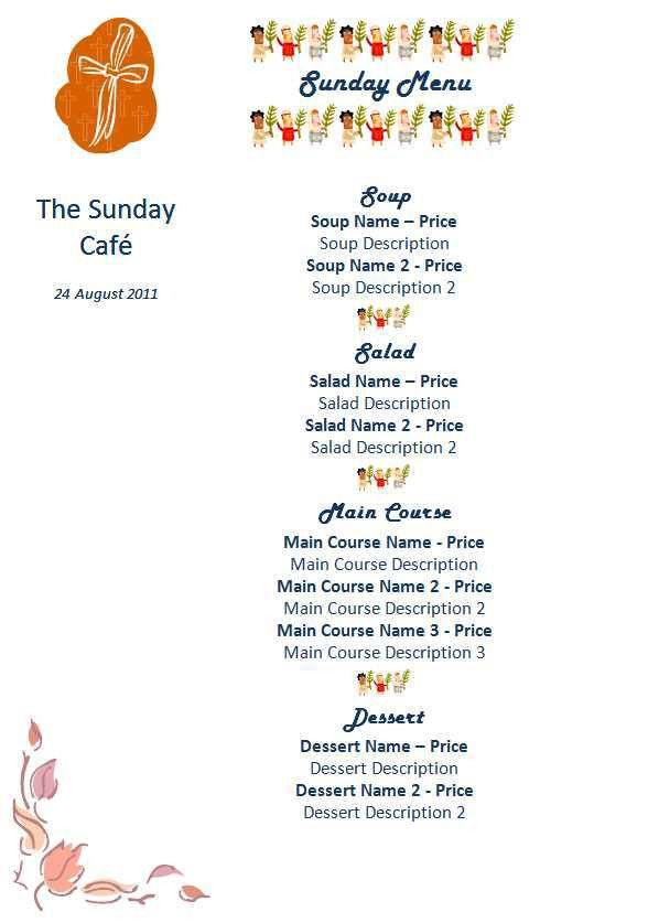 15 Free Restaurant and Cafe Menu Templates for Word | Microsoft ...
