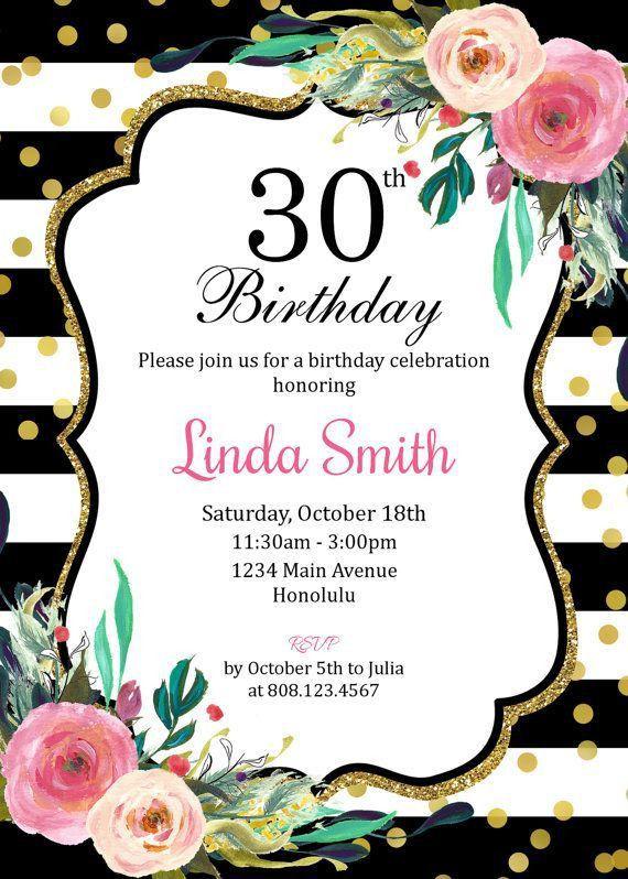 Best 25+ 30th birthday invitations ideas on Pinterest | Surprise ...