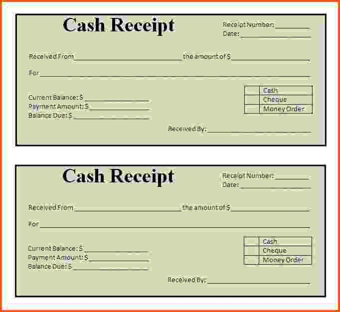 8+ receipt format | Survey Template Words