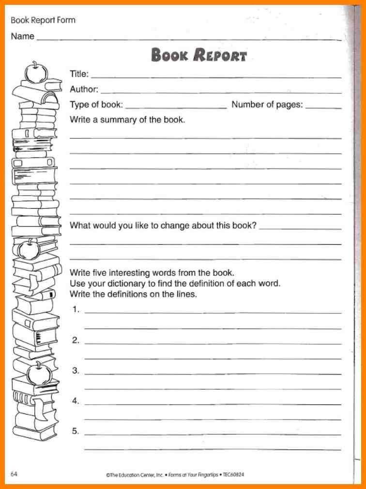 10+ book report template 5th grade   dialysis-nurse