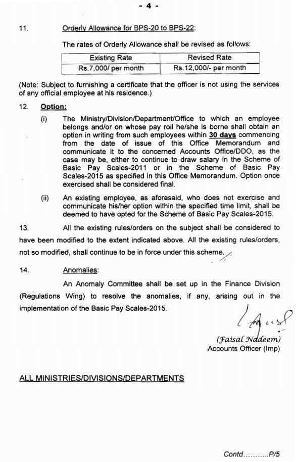 revised pay scale 2015 notification letter 7th july finance ...