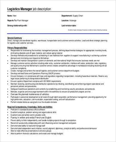 Superior Logistics Manager Job Description. 29 Best Nicku0027S Logistics Images .