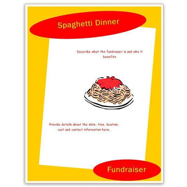 Spaghetti Dinner Flyer Template | Free Download Clip Art | Free ...