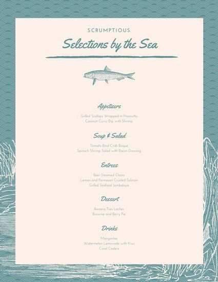 Tea Menu Template. vintage cafe or confectionery dessert menu ...