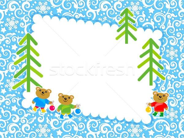 Christmas card with blank letter vector illustration ...