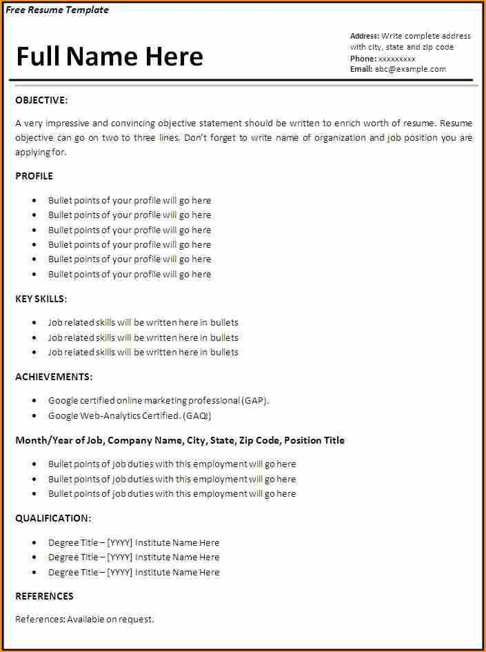 work experience resume template - Basic Job Appication Letter