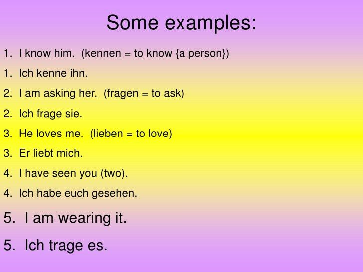 Accusative Pronouns And Dative Pronouns