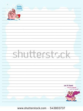 Vector Printing Paper Note Cute Paper Stock Vector 577897171 ...