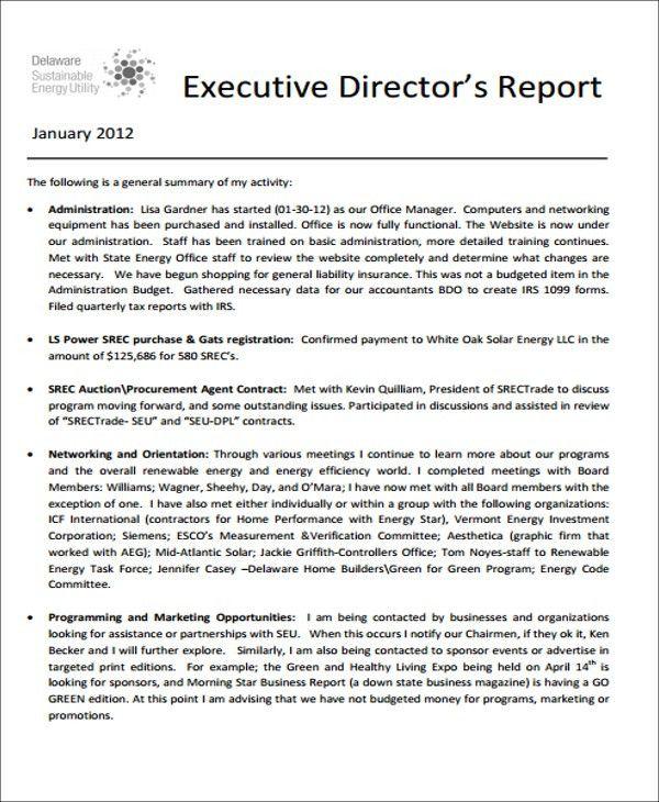 11+ Sample Executive Report Formats | Free & Premium Templates