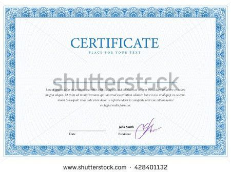 Blank Certificate Stock Images, Royalty-Free Images & Vectors ...