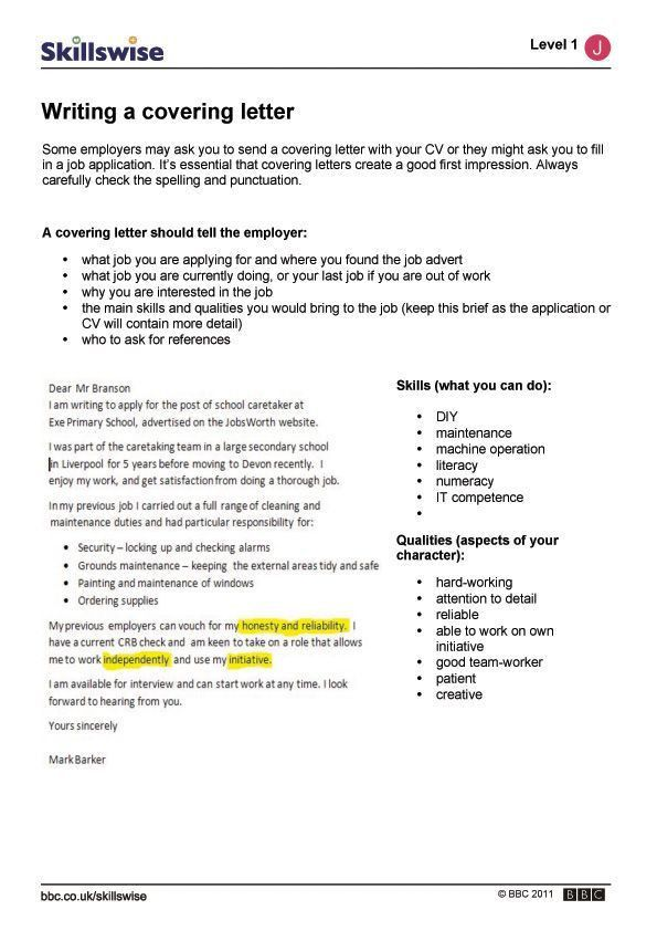 Writing a covering letter | Handy Dandy | Pinterest | Critical ...