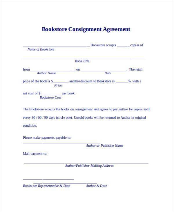 Consignment Agreement Template. 13 Free Sample Selling Contract ...