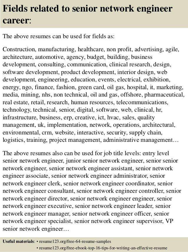 network engineer resume sample network engineer resume sample