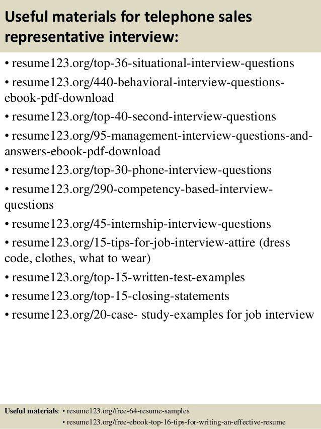 Top 8 telephone sales representative resume samples