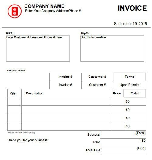 ipinimg1200x49c1dd49c1ddf82613841d5df6f6 – Electrician Invoice Template