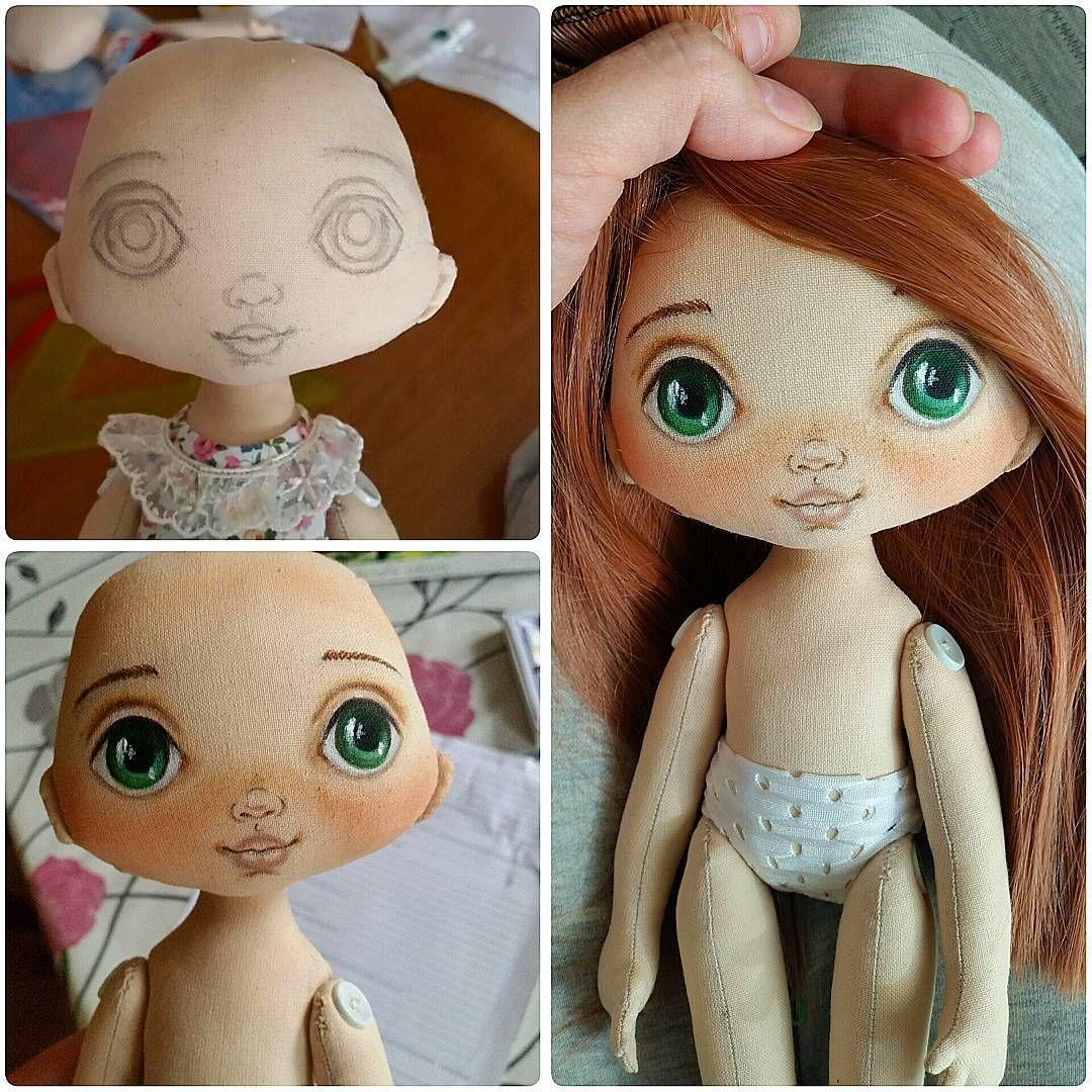 Как нарисовать кукле лицо своими руками 11