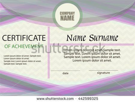 Certificate Achievement Template Horizontal Winning Competition ...