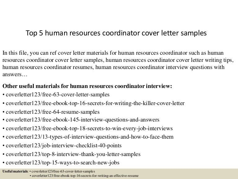 how to write a cover letter to human resources