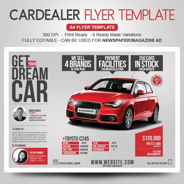 Auto Sales Flyer Templates - Marketing Ideas for Car Dealers | YOGNEL